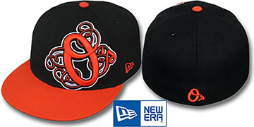 Orioles 'DUBCHA' Black-Orange Fitted Hat by New Era
