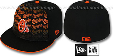 Orioles 'FONT-FADEOUT' Black Fitted Hat by New Era
