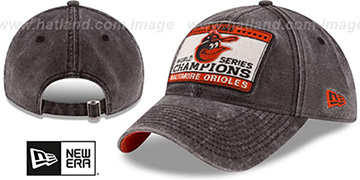 Orioles 'GW CHAMPIONS PATCH STRAPBACK' Black Hat by New Era
