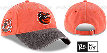 Orioles 'GW ESTABLISHED PATCH STRAPBACK' Orange-Black Hat by New Era
