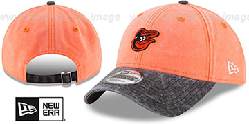 Orioles GW RUGGED CANVAS STRAPBACK Orange-Black Hat by New Era