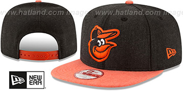 Orioles 'HEATHER ACTION SNAPBACK' Charcoal-Orange Hat by New Era