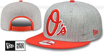 Orioles 'LOGO GRAND SNAPBACK' Grey-Orange Hat by New Era