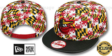 Orioles 'MARYLAND-FLAG CROWN SNAPBACK' Hat by New Era