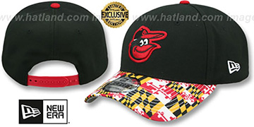 Orioles 'MARYLAND-FLAG LC 940' Black Hat by New Era