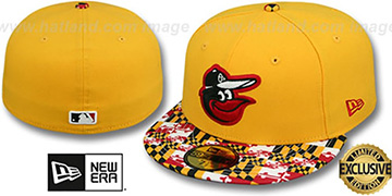 Orioles MARYLAND-FLAG VIZA Gold Fitted Hat by New Era