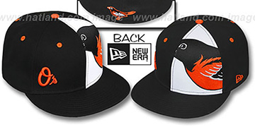 Orioles 'MASCOT-ZOOM' Black Fitted Hat by New Era