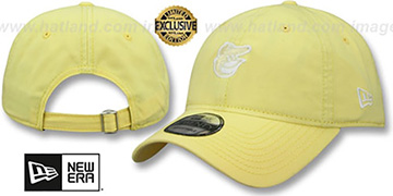 Orioles MINI BEACHIN STRAPBACK Light Yellow Hat by New Era