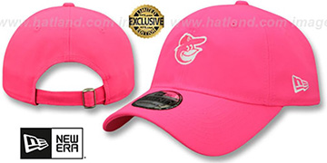 Orioles MINI BEACHIN STRAPBACK Neon Pink Hat by New Era