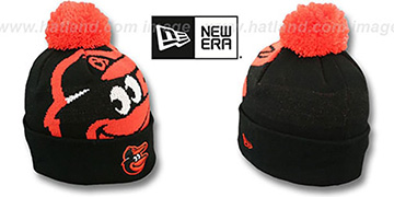 Orioles 'MLB-BIGGIE' Black Knit Beanie Hat by New Era