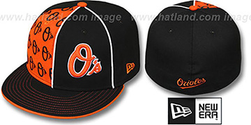 Orioles MULTIPLY Black-Orange Fitted Hat by New Era