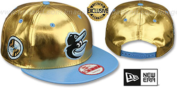 Orioles 'POSH SNAPBACK' Gold-Sky Hat by New Era