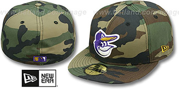 Orioles RAVENFLAGE Woodland Fitted Hat by New Era