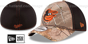 Orioles 'REALTREE NEO MESH-BACK' Flex Hat by New Era