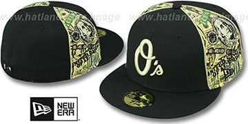 Orioles SHOWMEDA$ Black-Money Fitted Hat by New Era