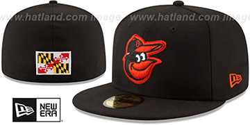 Orioles STATE STARE Black Fitted Hat by New Era