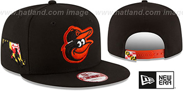 Orioles 'STATE STARE SNAPBACK' Black Hat by New Era