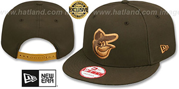 Orioles TEAM-BASIC SNAPBACK Brown-Wheat Hat by New Era