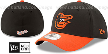 Orioles TEAM-CLASSIC Black-Orange Flex Hat by New Era