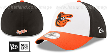 Orioles TEAM-CLASSIC White-Black-Orange Flex Hat by New Era
