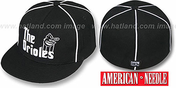 Orioles 'THE GODFATHER' Black Fitted Hat by American Needle