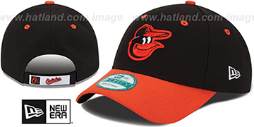 Orioles THE-LEAGUE ROAD STRAPBACK Black-Orange Hat by New Era