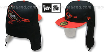 Orioles TRACE DOGEAR Black-Orange Fitted Hat by New Era