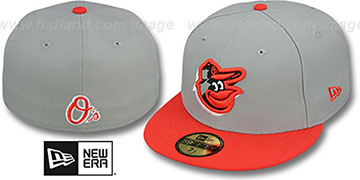 Orioles 'TRACE-POP' Grey-Orange Fitted Hat by New Era