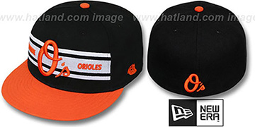 Orioles TRIBAND Black-Orange Fitted Hat by New Era