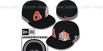 Orioles 'TWO-BIT' Black-White Fitted Hat by New Era