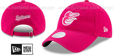 Orioles WOMENS MOTHERS DAY GLIMMER STRAPBACK Pink Hat by New Era