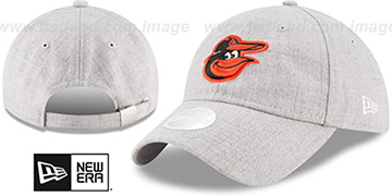 Orioles 'WOMENS PREFERRED PICK STRAPBACK' Heather Grey Hat by New Era