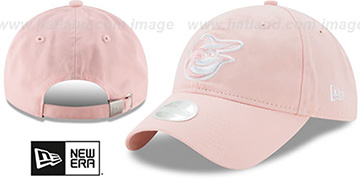Orioles WOMENS PREFERRED PICK STRAPBACK Light Pink Hat by New Era
