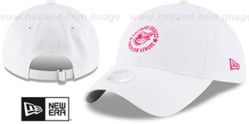 Orioles WOMENS TEAM-ACE STRAPBACK White-Pink Hat by New Era
