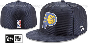 Pacers 2017 ONCOURT DRAFT Navy Fitted Hat by New Era