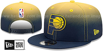 Pacers 'BACK HALF FADE SNAPBACK' Hat by New Era