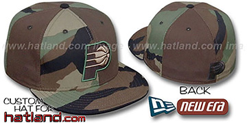 Pacers CAMO 'PINWHEEL' Brown-Woodland Fitted Hat