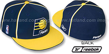 Pacers 'CROSS TAPED' Fitted Hat by Reebok