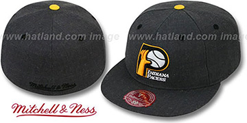 Pacers 'GREY HEDGEHOG' Fitted Hat by Mitchell & Ness