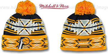 Pacers HWC 'GEOTECH' Knit Beanie by Mitchell and Ness