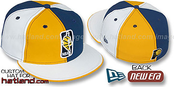 Pacers 'KEY-INSIDER PINWHEEL' Gold-Navy-White Fitted Hat