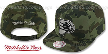 Pacers 'METAL-CAMO SNAPBACK' Hat by Mitchell & Ness