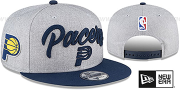 Pacers ROPE STITCH DRAFT SNAPBACK Grey-Navy Hat by New Era