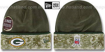 Packers '2014 SALUTE-TO-SERVICE' Knit Beanie Hat by New Era