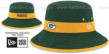 Packers '2015 NFL TRAINING BUCKET' Green Hat by New Era