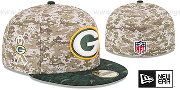 Packers '2015 SALUTE-TO-SERVICE' Desert-Green Fitted Hat by New Era