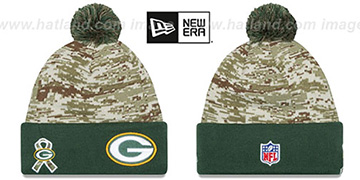 Packers 2015 SALUTE-TO-SERVICE Knit Beanie Hat by New Era