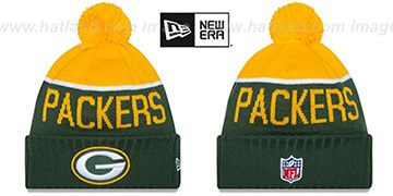 Packers 2015 STADIUM Green-Gold Knit Beanie Hat by New Era