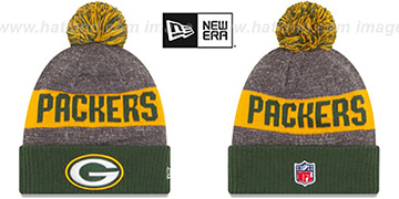 Packers '2016 STADIUM' Green-Gold-Grey Knit Beanie Hat by New Era
