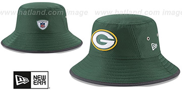 Packers 2017 NFL TRAINING BUCKET Green Hat by New Era